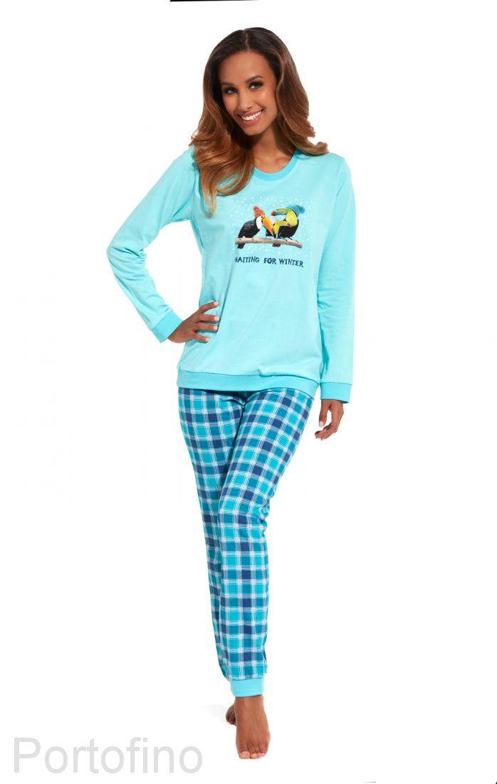 671-127 Пижама женская с длинным рукавом Cornette