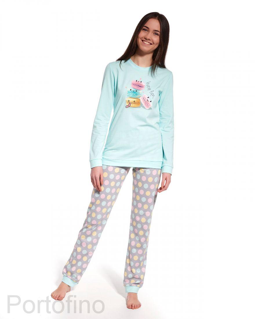 559-29 Пижама для девушек с длинным рукавом Cornette