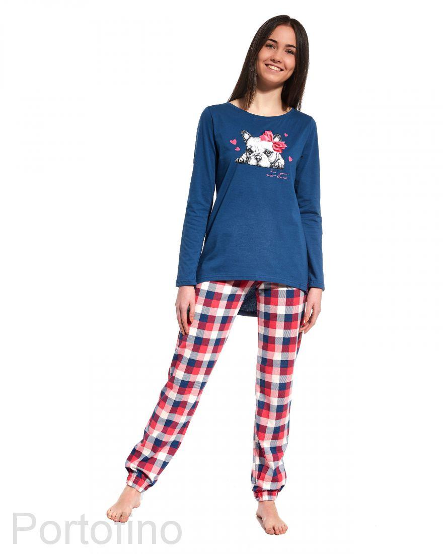 299-28 Пижама для девушек с длинным рукавом Cornette