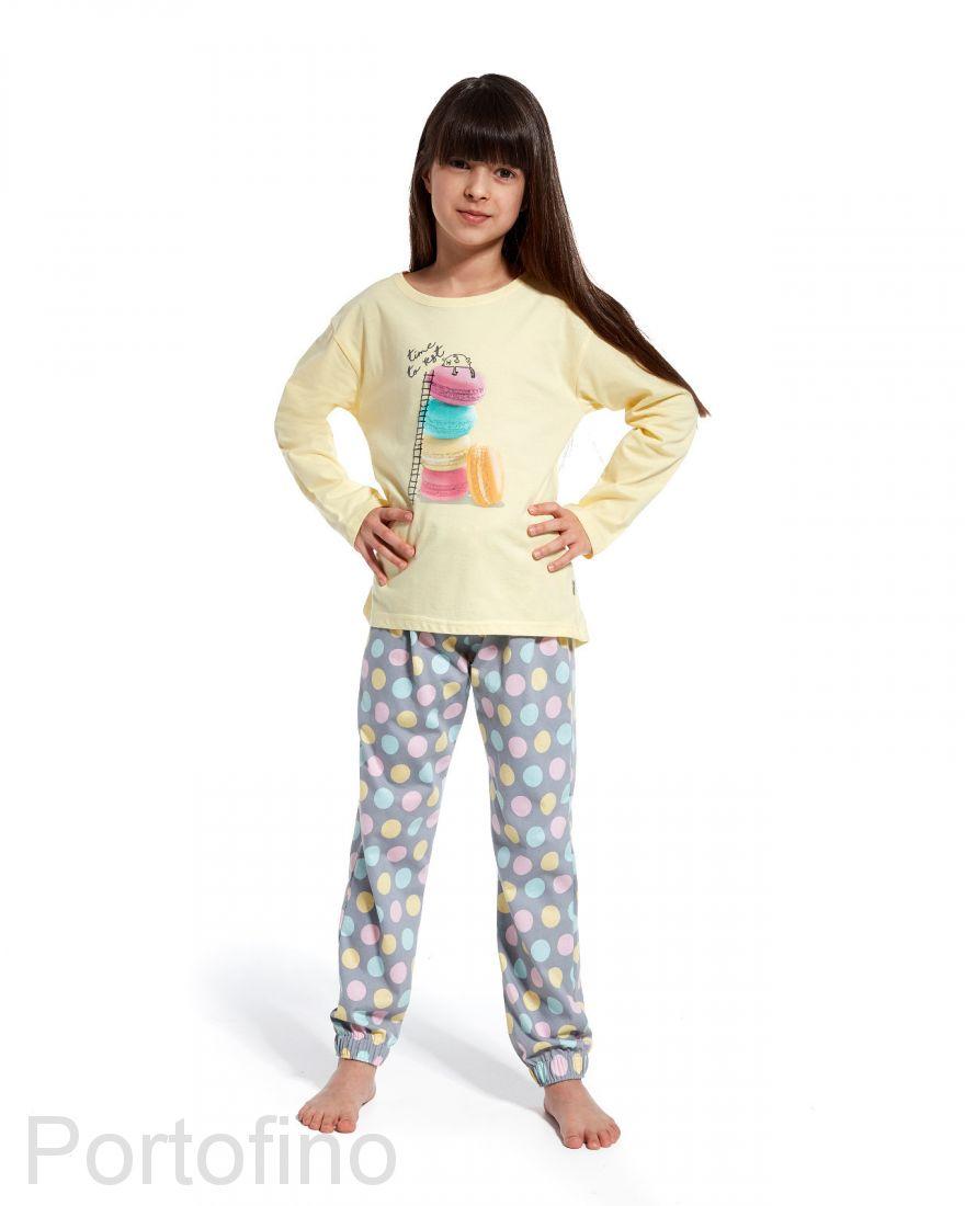 973-83 Пижама для девочки длинный рукав Cornette