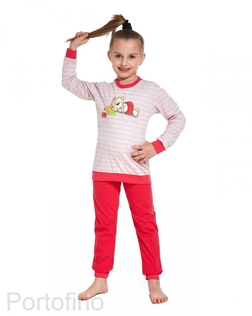 594-76 Пижама для девочки длинный рукав Cornette