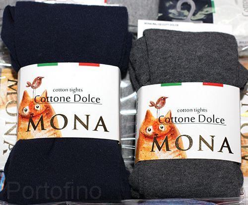 Mona хлопковые однотонные колготки