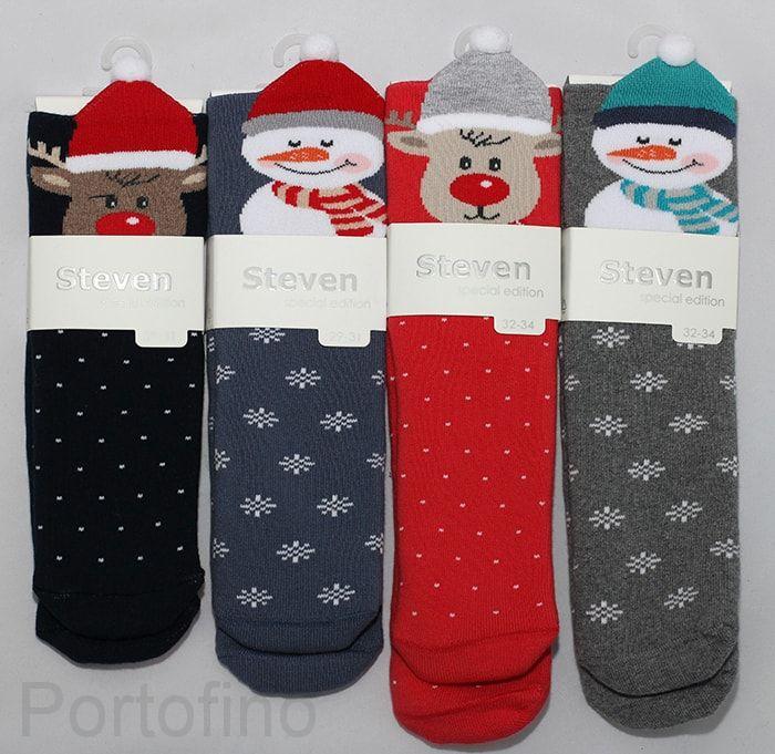 Носки махровые новогодние Steven